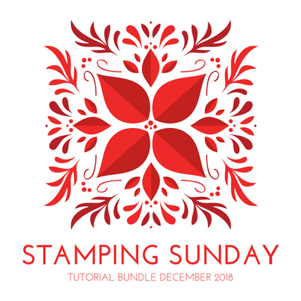 Stamping Sunday Tutorial Bundle December 2018 from theartfulinker.com