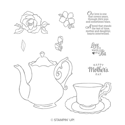Tea Together stamp set from the Stampin' Up! Occasions Catalog. Get it here: http://bit.ly/ShopwithSara beginning January 3, 2019.