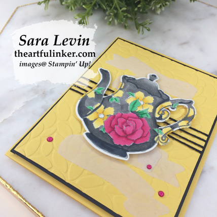 Tea Together Sneak Peek card - angled view - from theartfulinker.com