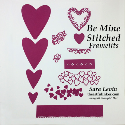 Be Mine Stitched Framelits sample die cuts page 2 - from theartfulinker.com