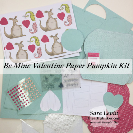 Be Mine Valentine January 2019 Paper Pumpkin kit contents - from theartfulinker.com