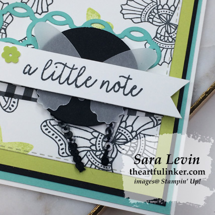 Butterfly Gala avid crafter card - sentiment detail - from theartfulinker.com