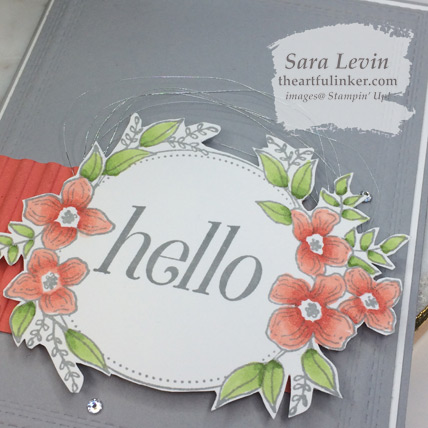 Floral Frames with Rectangle Stitched Framelits - sentiment detail with Stampin' Blends coloring - from theartfulinker.com