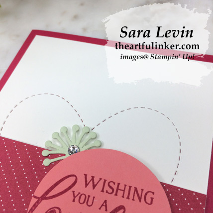 Forever Lovely with Be Mine Stitched Framelits card, embossed stitched heart detail - from theartfulinker.com