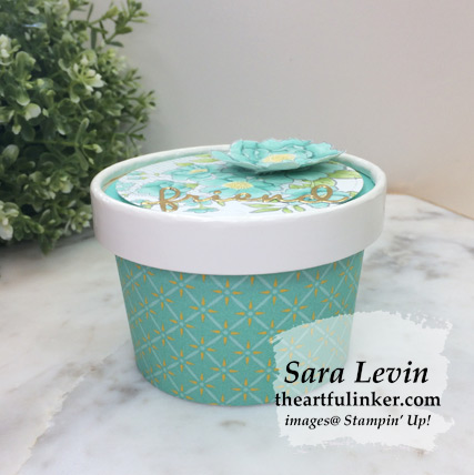 Lovely Lattice Sweet Cup using Tea Room Specialty designer paper - from theartfulinker.com