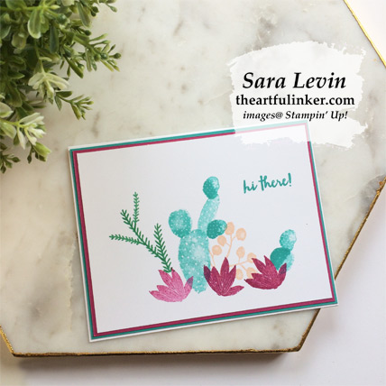 Simple Flowering Desert card from theartfulinker.com