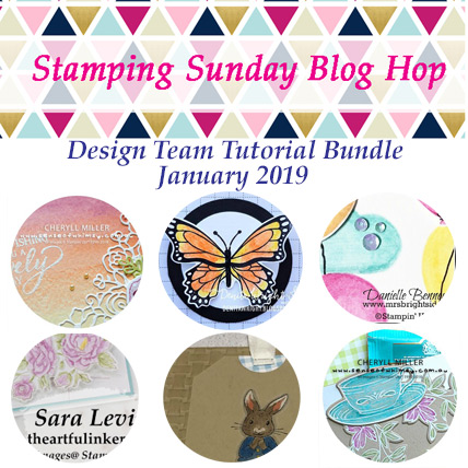 Stamping Sunday January 2019 Tutorial Bundle from theartfulinker.com