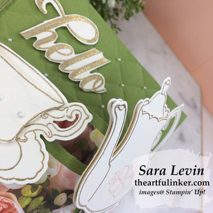 Tea Together Bendi Card layering detail - from theartfulinker.com