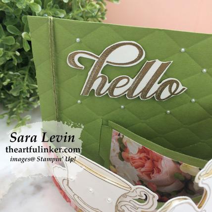 Tea Together Bendi Card sentiment detail from theartfulinker.com