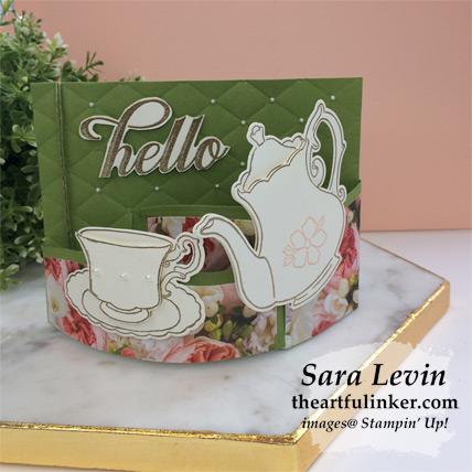 Tea Together Bendi Card for the Creating Kindness Blog Hop from theartfulinker.com