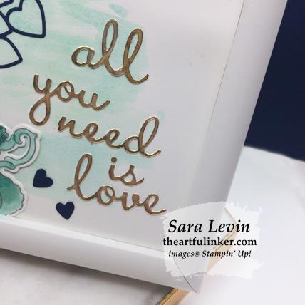 Tea Together framed love piece for Home Decor hop - Well Written sentiment detail - from theartfulinker.com