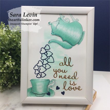 Tea Together framed love home decor piece from theartfulinker.com