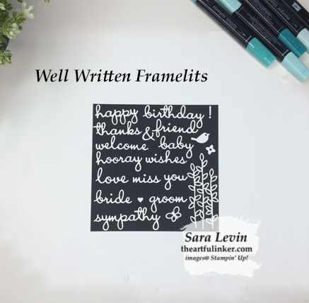 Well Written Framelits with all of the words cut out.