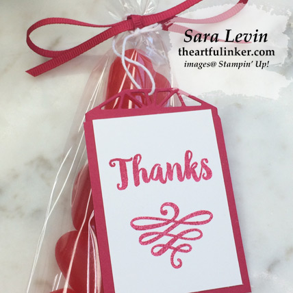 A Big Thank You class treats - tag detail - from theartfulinker.com
