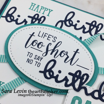 Amazing Life masculine birthday card - sentiment detail - from theartfulinker.com