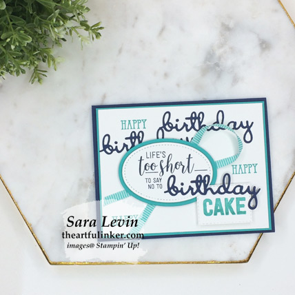 Amazing Life masculine birthday card from theartfulinker.com