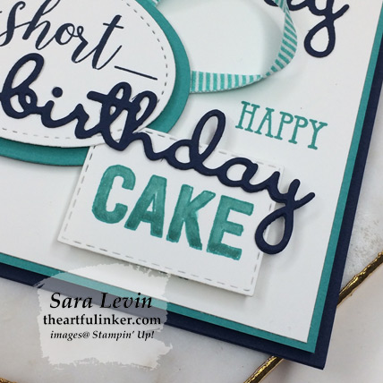 Amazing Life masculine birthday card - offset cake detail - from thertfulinker.com