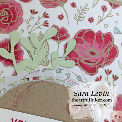 Amazing Life with All My Love card - Sprig Punch detail - from theartfulinker.com