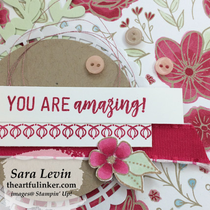 Amazing Life with All My Love card - sentiment detail - from theartfulinker.com