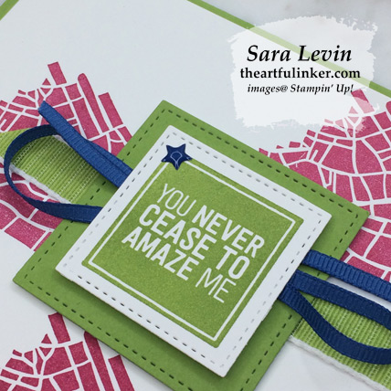 En Route Clean Card, stepped up - sentiment detail - from theartfulinker.com
