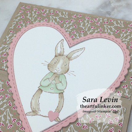 Fable Friends gate fold latch card for Creation Station Blog Hop - bunny detail - from theartfulinker.com