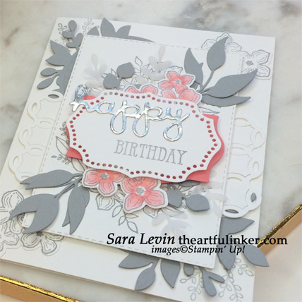 Floral Frames birthday card, learn how to make it! at theartfulinker.com