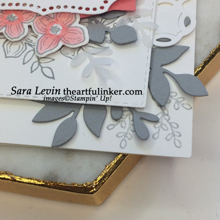 Learn how to make this Floral Frames birthday card - corner detail - from theartfulinker.com