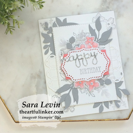 Learn how to make this Floral Frames birthday card - video tutorial - from theartfulinker.com