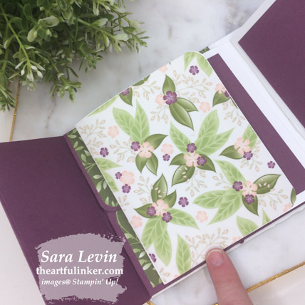 Floral Romance mini album - flap page closed - from theartfulinker.com
