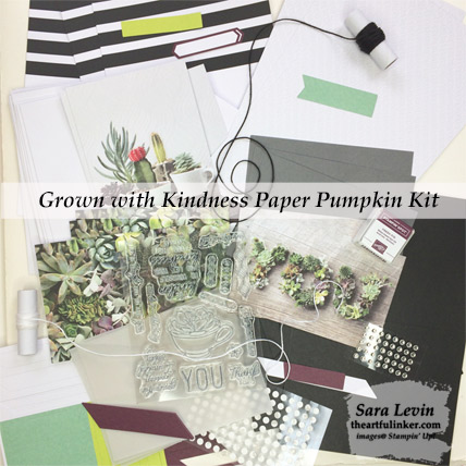 Grown with Love Paper Pumpkin Kit contents - February 2019 kit - from theartfulinker.com