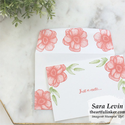 Painted Seasons Simple Note Cards in Calypso Coral and Granny Apple Green from theartfulinker.com