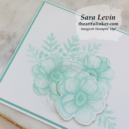 Painted Seasons simple stamping card for OSAT Blog Hop - detail - from theartfulinker.com
