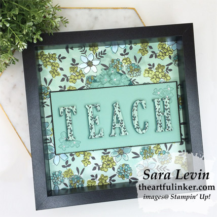 Share What You Love Teacher Appreciation framed art piece from theartfulinker.com