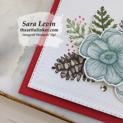 Woodland Painted Seasons card - corner detail - from theartfulinker.com