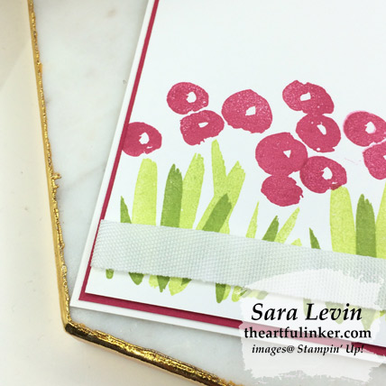 Abstract Impressions clean and simple thank you card, flower detail - from theartfulinker.com