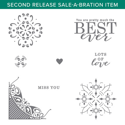 All Adorned stamp set Free with a qualifying order during Sale a Bration - from theartfulinker.com