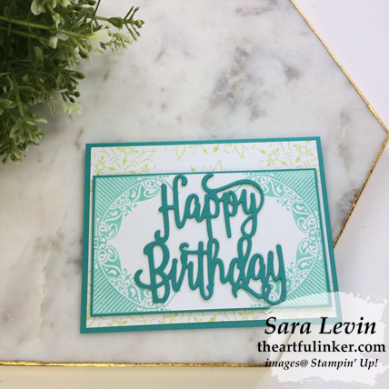 All Adorned birthday card, angled view - from theartfulinker.com