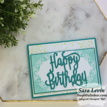 All Adorned birthday card from theartfulinker.com