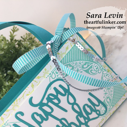 All Adorned Birthday purse, embellishment detail - from theartfulinker.com