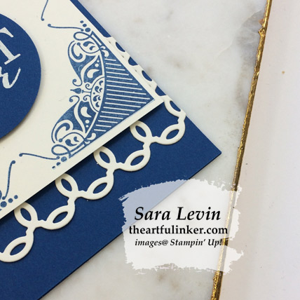 All Adorned in Blueberry Bushel card, Rose Trellis detail -  from theartfulinker.com