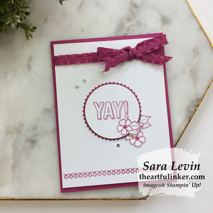Amazing Life clean and simple card - from theartfulinker.com