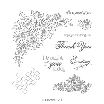 Climbing Roses Stamp Set - from theartfulinker.com
