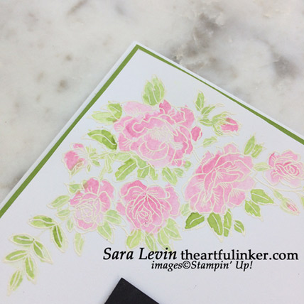 Climbing Roses Thank You card, watercolor detail - from theartfulinker.com