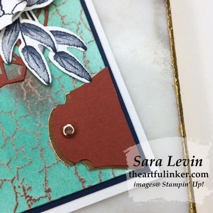 Crackle Paint with More Than Words avid card, Story Label Punch detail - from theartfulinker.com