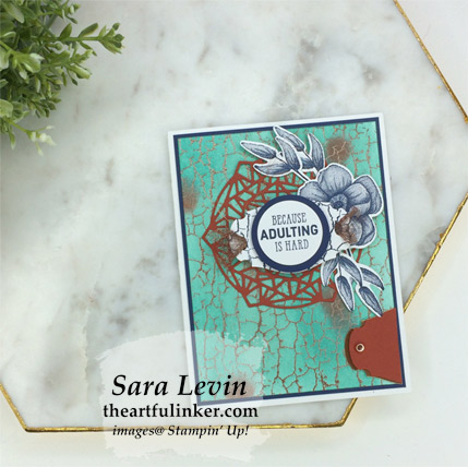 Crackle Paint with More Than Words avid card from theartfulinker.com