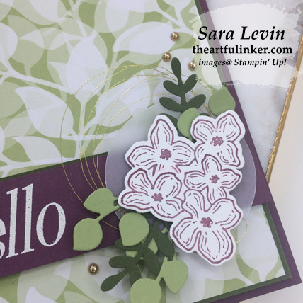 Floral Frames for Team Sketch hello card, avid crafter, flower and embellishment detail - from theartfulinker.com
