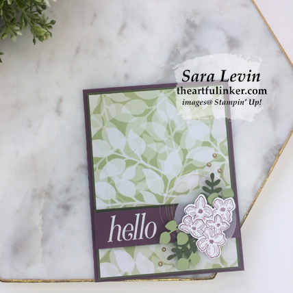 Floral Frames for Team Sketch hello card, avid crafter - from theartfulinker.com
