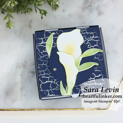 Lasting Lily with Crackle Paint mini pizza box from theartfulinker.com