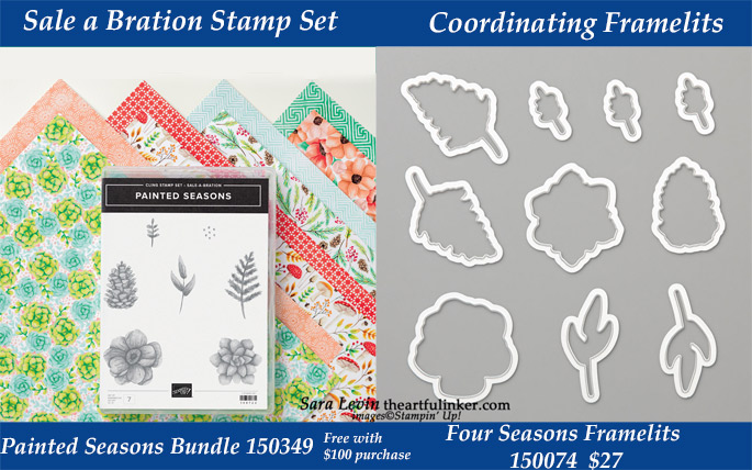 Painted Seasons Bundle with coordinating Four Seasons Framelits.  Available while supplies last during March 2019 from theartfulinker.com