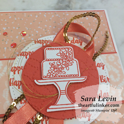 Piece of Cake avid birthday card, embellishment and focal image detail - from theartfulinker.com